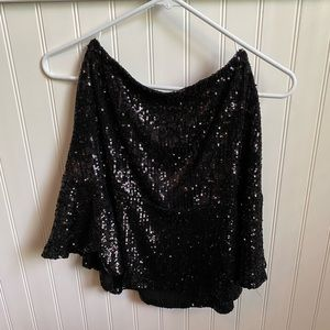 Free People Trumpet Sequin Skirt